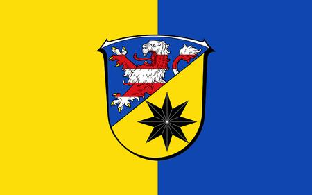 frankfurt germany: Flag of Waldeck-Frankenberg is a district in the north of Hesse, Germany. 3d illustration