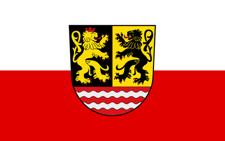 orla: Flag of Saale-Orla is a Kreis (district) in the east of Thuringia, Germany Stock Photo
