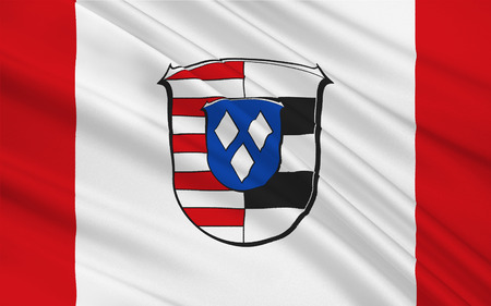 frankfurt germany: Flag of Gross-Gerau is a district in the south of Hesse Germany. 3d illustration Stock Photo