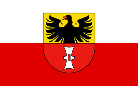 reich: Flag of Mulhausen is a city in Thuringia, Germany