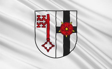 north rhine westphalia: Flag of Soest is a district in the middle of North Rhine-Westphalia, Germany. 3d illustration