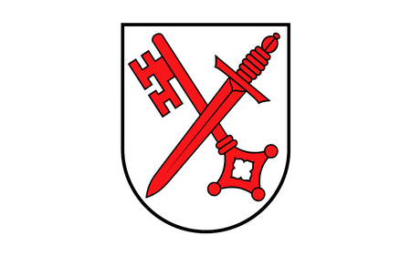 Flag of Naumburg is a town in the district Burgenlandkreis, in the state of Saxony-Anhalt, Germany