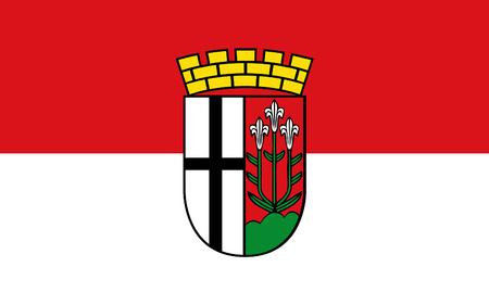 frankfurt germany: Flag of Fulda is a city in Hesse, Germany. 3d illustration