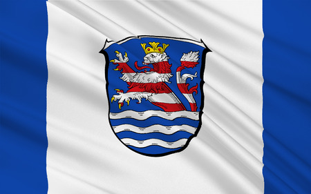 frankfurt germany: Flag of Schwalm-Eder-Kreis is a district in the north of Hesse, Germany. 3d illustration