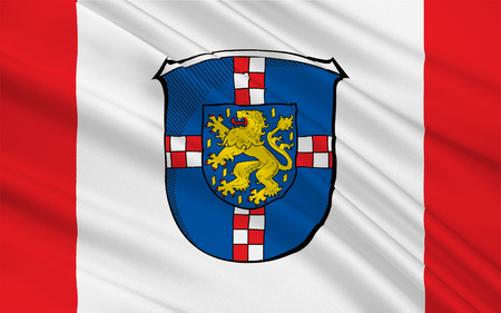 limburg: Flag of Limburg-Weilburg is a district in the west of Hesse, Germany. 3d illustration