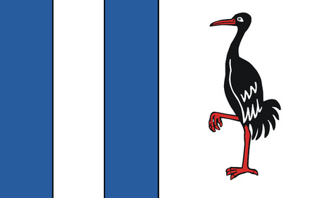 burg: Flag of Jerichower Land is a district in the north-east of Saxony-Anhalt, Germany