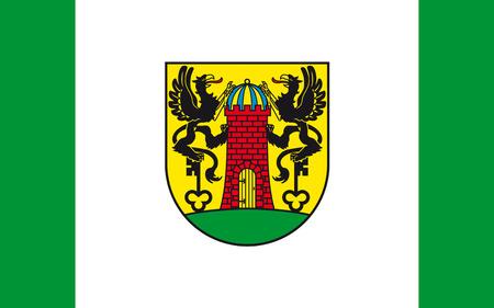 greifswald: Flag of Wolgast is a town in the district of Vorpommern-Greifswald, in Mecklenburg-Vorpommern, Germany. 3d illustration