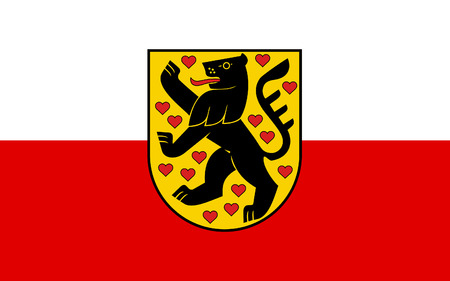 reich: Flag of Weimar is a city in the federal state of Thuringia, Germany Stock Photo