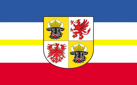 federated: Flag of Mecklenburg-Western Pomerania is a federated state in northern Germany