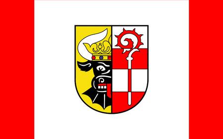 northwestern: Flag of Nordwestmecklenburg is a district in the north-western part of Mecklenburg-Vorpommern, Germany. 3d illustration