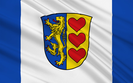 federal republic of germany: Flag of Luneburg is a district in Lower Saxony, Germany. 3d illustration