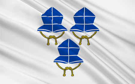 landshut: Flag of Landshut is a town in Bavaria in the south-east of Germany. 3d illustration