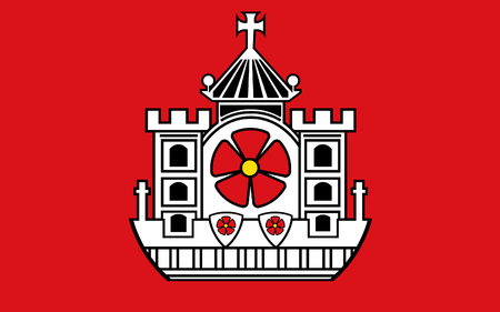 north rhine westphalia: Flag of Detmold is a city in North Rhine-Westphalia, Germany. 3d illustration