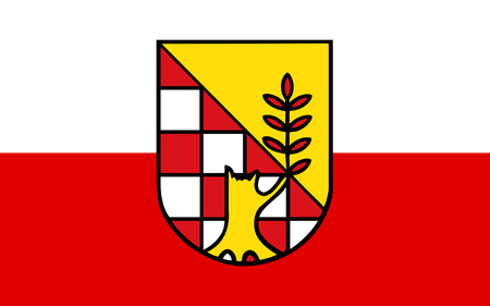 nationalist: Flag of Nordhausen is a Kreis (district) in the north of Thuringia, Germany Stock Photo