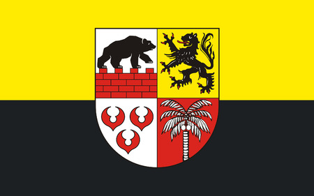 reich: Flag of Anhalt-Bitterfeld is a district in Saxony-Anhalt, Germany Stock Photo