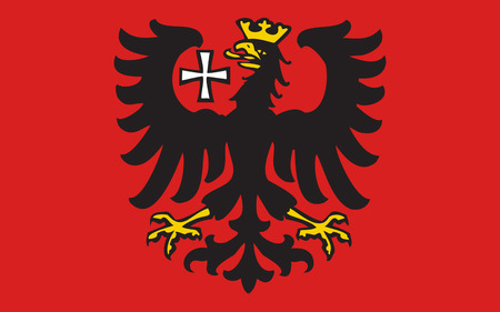 frankfurt germany: Flag of Wetzlar city in Lahn-Dill of Hesse, Germany. 3d illustration