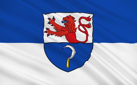 north rhine westphalia: Flag of Remscheid is a city in North Rhine-Westphalia, Germany. 3d illustration