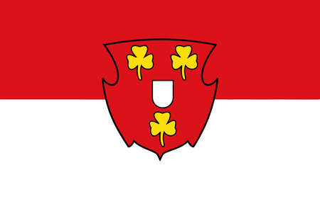 northwestern: Flag of Cleves is a town in the Lower Rhine region of northwestern Germany. 3d illustration
