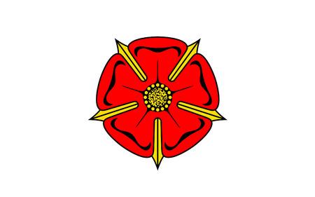 north rhine westphalia: Flag of Lippe is a district in the east of North Rhine-Westphalia, Germany. 3d illustration
