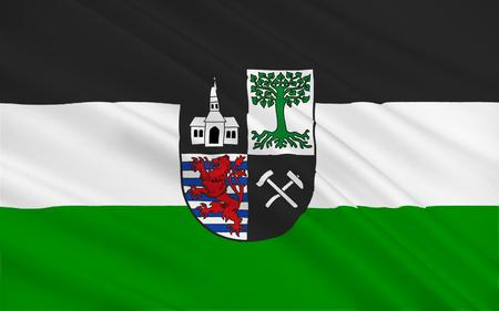north rhine westphalia: Flag of Gelsenkirchen is a city in the North Rhine-Westphalia state of Germany. 3d illustration