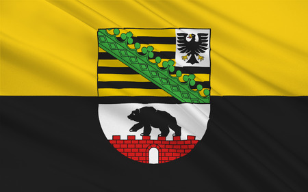 Flag of Saxony-Anhalt is a landlocked federal state of Germany