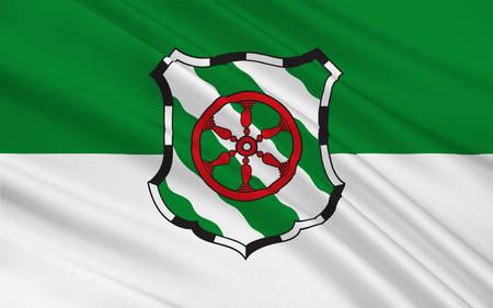 north rhine westphalia: Flag of Gutersloh is a city in North Rhine-Westphalia, Germany. 3d illustration