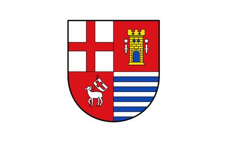 eifel: Flag of Eifelkreis Bitburg-Prum is a district in Rhineland-Palatinate, Germany Stock Photo