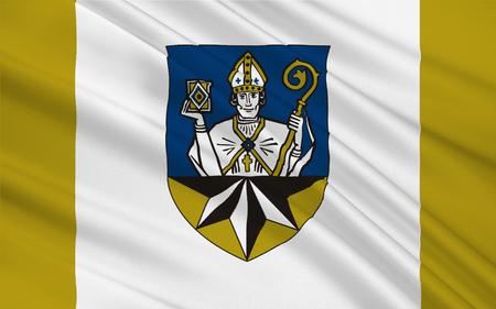 frankfurt germany: Flag of Korbach is the district seat of Waldeck-Frankenberg in northern Hesse, Germany. 3d illustration