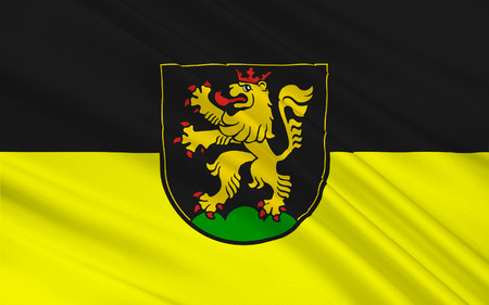 stuttgart: Flag of Heidelberg is a city situated on the river Neckar in south-west Germany. 3d illustration