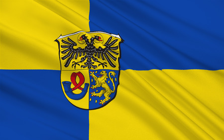 district': Flag of Lahn-Dill is a district in the west of Hesse, Germany. 3d illustration Stock Photo