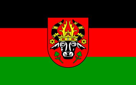 mecklenburg western pomerania: Flag of Parchim is a town in Mecklenburg-Vorpommern, Germany. 3d illustration Stock Photo
