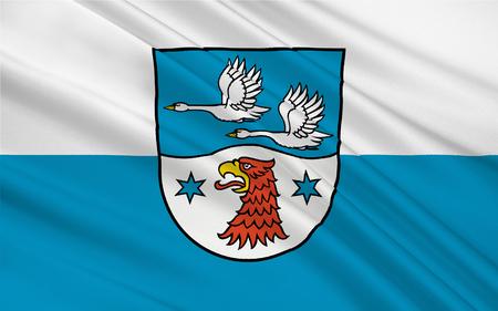 brandenburg: Flag of Havelland is a district or county in Brandenburg, Germany. 3d illustration