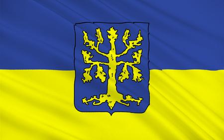north rhine westphalia: Flag of Hagen is the city in Germany. 3d illustration