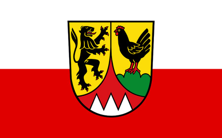 nationalist: Flag of Hildburghausen is a district in Thuringia, Germany