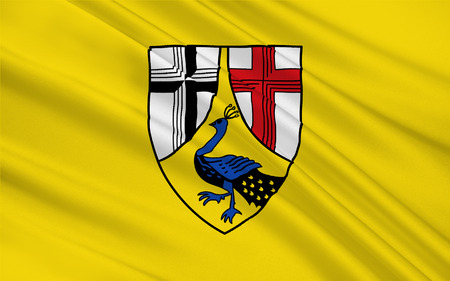 Flag of Neuwied is a district (Kreis) in the north of Rhineland-Palatinate, Germany Stock Photo