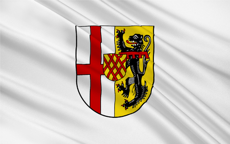 Flag of Vulkaneifel is a district in the northwest of the state Rhineland-Palatinate, Germany