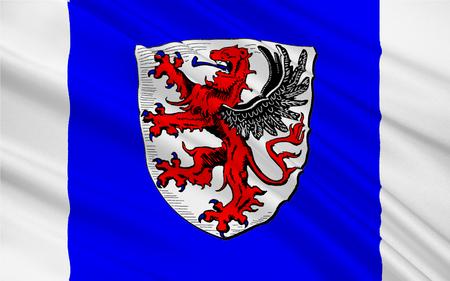 frankfurt germany: Flag of Giessen is a town of Hessen, Germany. 3d illustration
