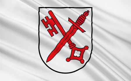 Flag of Naumburg is a town in the district Burgenlandkreis, in the state of Saxony-Anhalt, Germany. 3d illustration