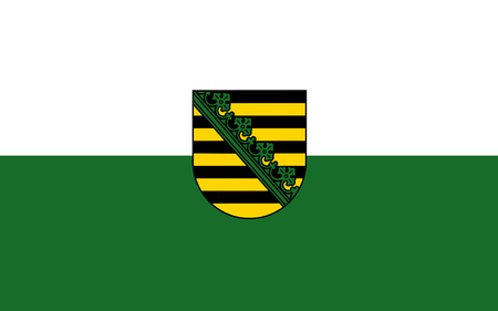 Reich: Flag of Free State of Saxony of the federal state of Germany. 3d illustration