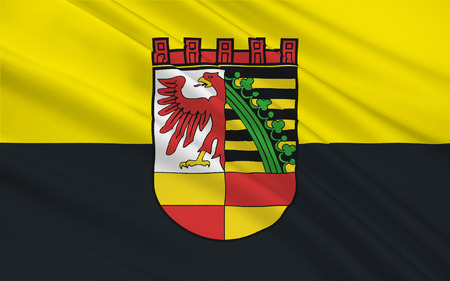 Reich: Flag of Dessau in Saxony-Anhalt, Germany. 3d illustration