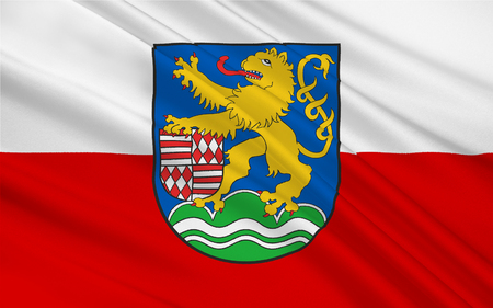 nationalist: Flag of Kyffhauserkreis is a district in the northern part of Thuringia, Germany Stock Photo