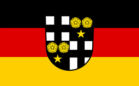 federal republic of germany: Flag of Beckingen is a municipality in the district Merzig-Wadern, in Saarland, Germany