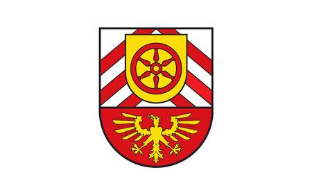 north rhine westphalia: Flag of Gutersloh is a district in the north-east of North Rhine-Westphalia, Germany. 3d illustration Stock Photo