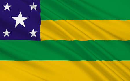 smallest: Flag of Sergipe is the smallest state of Brazil. 3d illustration Stock Photo