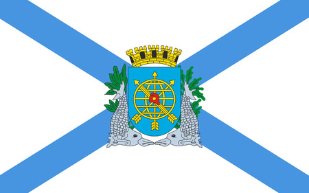 municipality: Flag of Rio de Janeiro is the second-most populous municipality in Brazil. 3d illustration Stock Photo