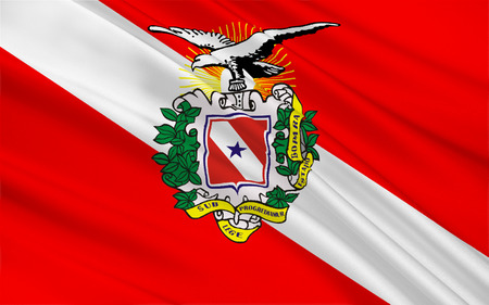 para: Flag of Para is a state in northern Brazil. 3d illustration