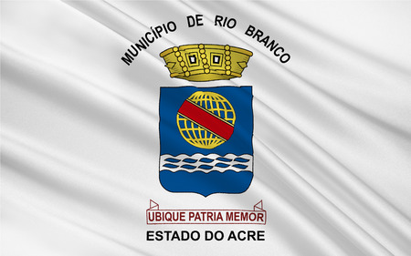 acre: Flag of Rio Branco is a Brazilian municipality, capital of the state of Acre. 3d illustration