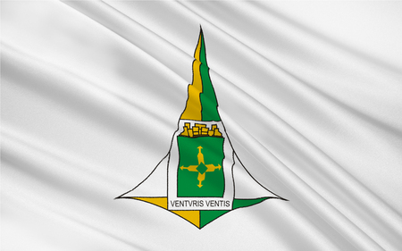 brasilia: Flag of Brasilia is the federal capital of Brazil and seat of government of the Federal District. 3d illustration