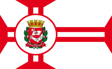 tarsus: Flag of Sao Paulo is a municipality located in the southeast region of Brazil. 3d illustration