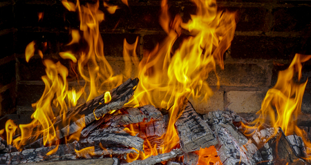 arsonist: Big fire from wood burning in an oven